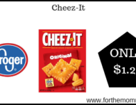Cheez-Its ONLY $1.27 (Reg $2.99)
