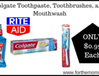 Colgate Toothpaste, Toothbrushes, and Mouthwash ONLY $0.99 Starting 8/25