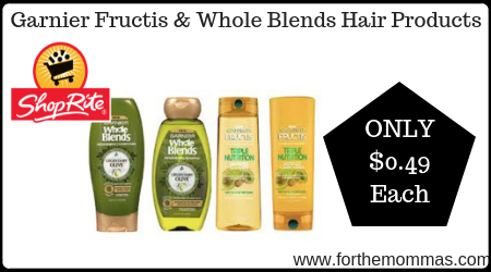 image about Garnier Whole Blends Printable Coupon identify ShopRite: Garnier Fructis Complete Blends Hair Goods Merely