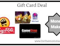 Gift Card Deal – $10.00 Moneymaker Thru 8/24!