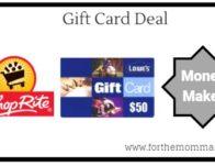 ShopRite: Gift Card Deal – $10.00 Moneymaker Starting 8/25!