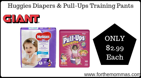 Giant: Huggies Diapers & Pull-Ups Training Pants ONLY $2 99
