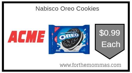 photo regarding Nabisco Printable Coupons called Acme: Nabisco Oreo Cookies Merely $0.99 Through 9/5! - FTM