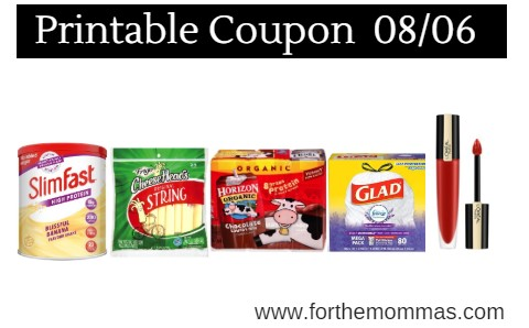 image about Slim Fast Coupons Printable named Printable Coupon Roundup 08/06: Preserve Upon SlimFast, Garnier