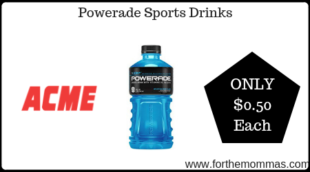 picture regarding Printable Powerade Coupons named Acme: Powerade Sporting activities Beverages Basically $0.50 Every Via 8/8! - FTM