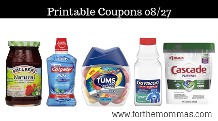image about Nexium Printable Coupon named Printable Discount coupons Roundup 08/27: Help you save Upon Jif, Cascade