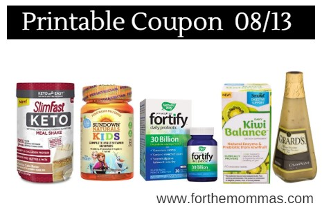 photograph about Slim Fast Coupons Printable known as Printable Coupon Roundup 08/13: Conserve Upon SlimFast, Sundown