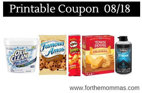 picture relating to Oxiclean Printable Coupon titled Printable Coupon Roundup 08/18: Help you save Upon Pringles, Keebler