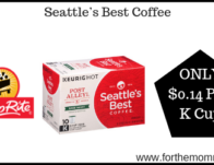 Seattle's Best Coffee ONLY $0.14 Per K Cup Thru 8/24!