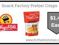 Snack Factory Pretzel Crisps Just $1.49 Each Thru 8/31!
