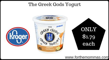 Kroger Mega Sale: The Greek Gods Yogurt ONLY $1 79 {Reg
