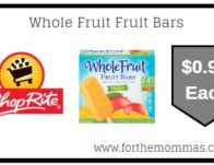 ShopRite: Whole Fruit Fruit Bars ONLY $0.99 Each Starting 8/25!