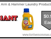 Giant: Arm & Hammer Laundry Products ONLY $0.99 Starting 8/23!