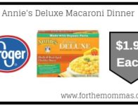 Annie's Deluxe Macaroni Dinner ONLY $1.99 {Reg $3.49}
