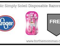 FREE Bic Simply Soleil Disposable Razors