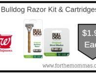 Bulldog Razor Kit & Cartridges ONLY $1.99 Starting 9/15