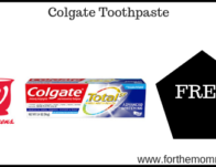 Possibly Free Colgate Toothpaste Starting 9/22