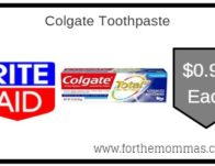 Colgate Toothpaste ONLY $0.99 Starting 9/22