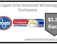 Colgate Total Advanced Whitening Toothpaste ONLY $1.33 {Reg $3.99}