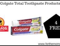 4 FREE Colgate Total Toothpaste Products Starting 9/22!