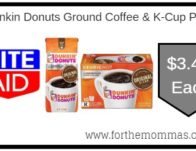 Dunkin Donuts Ground Coffee & K-Cup Pods ONLY $3.49 Each Starting 9/22