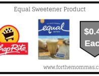 Equal Sweetener Product ONLY $0.49 Each Thru 9/14!