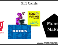 Gift Card Moneymaker Starting 9/22