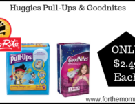 ShopRite: Huggies Pull-Ups & Goodnites Products ONLY $2.49 Each Starting 9/15!