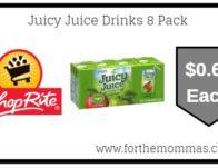 Juicy Juice Drinks 8 Pack Just $0.69 Each Thru 10/7!