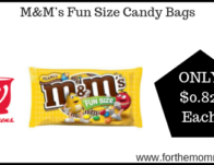 M&M's Fun Size Candy Bags ONLY $0.82 Each Starting 9/22
