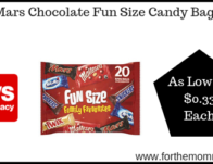 Mars Chocolate Fun Size Candy Bags As Low As $0.33 Each Starting 9/22