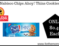 ShopRite: Nabisco Chips Ahoy! Thins Cookies ONLY $0.49 Each Starting 9/22!