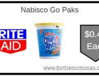 Nabisco Go Paks ONLY $0.42 Each Starting 9/15