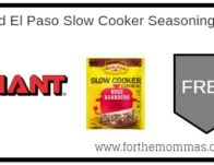 Giant: FREE Old El Paso Slow Cooker Seasoning Mix</body></html>