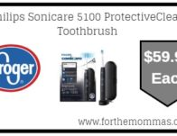 Kroger: Philips Sonicare 5100 ProtectiveClean Toothbrush ONLY $59.99 {Reg $89.99}