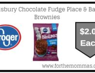 Pillsbury Chocolate Fudge Place & Bake Brownies ONLY $2.00 {Reg $3.19}