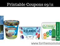 Newest Printable Coupons 09/11: Save On Ben & Jerry, Flonase, Tropicana & More