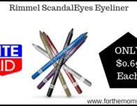 Rite Aid: Rimmel ScandalEyes Eyeliner ONLY $0.69 Starting 9/22