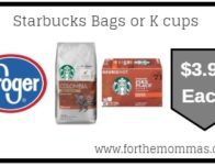 Starbucks Bags or K cups ONLY $3.99 {Reg $7.29}