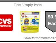 Tide Simply Pods ONLY $0.94 Starting 9/15