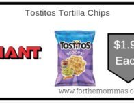 Tostitos Tortilla Chips & More ONLY $1.99 Each Thru 9/26!