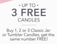 Up to 3 Free Candles