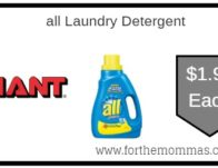 all Laundry Detergent Just $1.99 Each Starting 9/20!