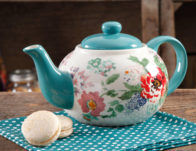 The Pioneer Woman Country Garden 3.2 Ounce Teapot ONLY $9.99 (Reg $24)