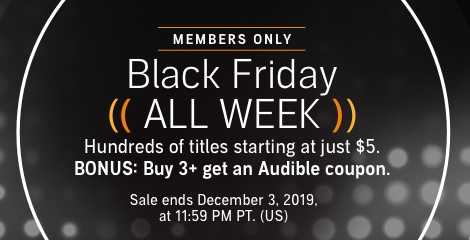 Audible Black Friday Sale Audible Members Only 5