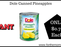 Giant: Dole Canned Pineapples ONLY $0.75 Each Starting 11/8!