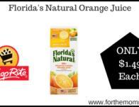 Florida's Natural Orange Juice ONLY $1.49 Each Starting 11/17!