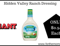 Hidden Valley Ranch Dressing & More ONLY $0.94 Each Starting 11/15!