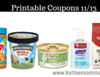 Newest Printable Coupons 11/13: Save On Seattle's, Ben & Jerry's, Purell & More