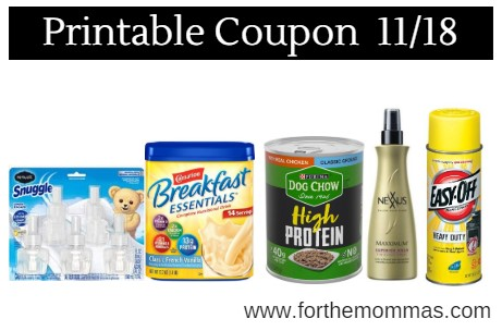 Newest Printable Coupons 11/18: Carnation Breakfast Essentials, Persil & More